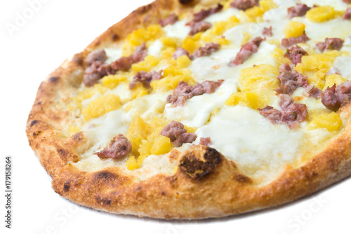 Aluminium Pizzeria Pizza con patate e salsiccia, Italian Food