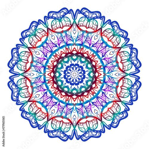Fotobehang Abstractie Mystical Flower Mandala. Vector illustration. Design for greeting card, invitation, tattoo, spa symbol