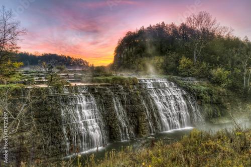 Thunder Bay Falls Sunrise - Galena, Illinois - 179172697