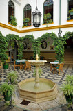 Andalusian courtyard of a house, Spain - 179178024