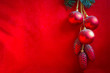 Red Christmas decoration.