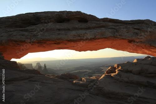 Fotobehang Grijze traf. Mesa Arch Canyonlands