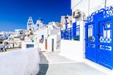 Pyrgos, Santorini, Greece, whitewashed city - 179238288