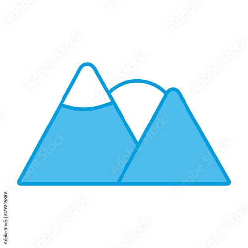 Fotobehang Wit Mountains and sun icon vector illustration graphic design