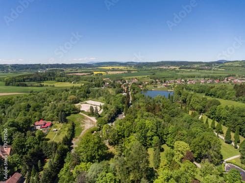 Foto op Plexiglas Pistache Kudowa-Zdrój widok z powietrza