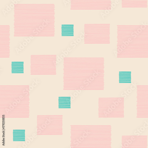 Seamless pattern with stripes. Repeating vector pattern. Hand drawn image. - 179250855