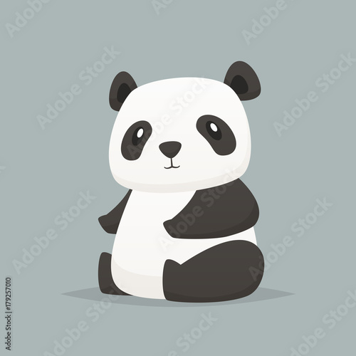 Fototapeta Cute panda vector isolated illustration