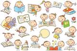 Kids And Books Wall Sticker