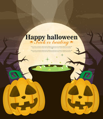 Halloween background flat design vector © mix3r