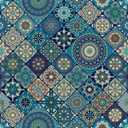 Cotton fabric Seamless pattern. Vintage decorative elements. Hand drawn background. Islam, Arabic, Indian, ottoman motifs. Perfect for printing on fabric or paper.