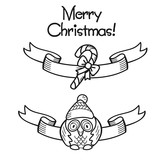 Ribbon, tape, banner New year, Christmas-