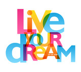 LIVE YOUR DREAM typography poster - 179273293