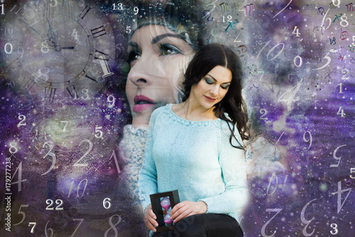 Female soul in the Universe and numerology   Buy Photos   AP Images