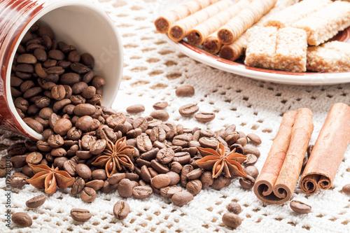 Papiers peints Café en grains Coffee beans for background