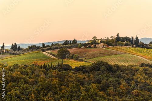 Deurstickers Toscane Herbst in der Toskana