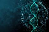 Blue DNA texture - 179309453