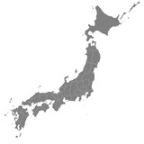High quality map Japan with borders of the regions - 179312261