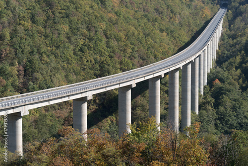 Foto op Aluminium Liguria Large highway viaduct