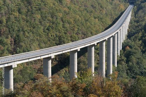 Fotobehang Liguria Large highway viaduct