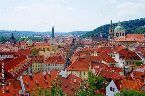 Praga - widok ze wzgórza zamkowego Poster