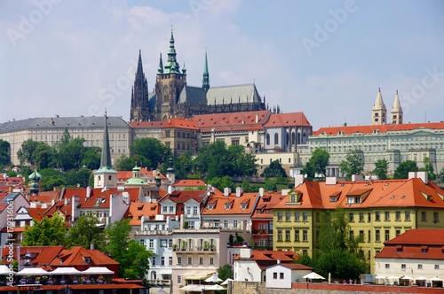Deurstickers Praag Praga - widok od strony Wełtawy