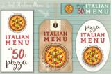 Italian Pizza Stickers Set - 179322002