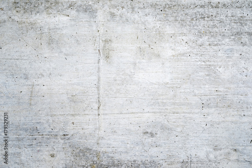Poster Betonbehang Texture of old white concrete wall for background