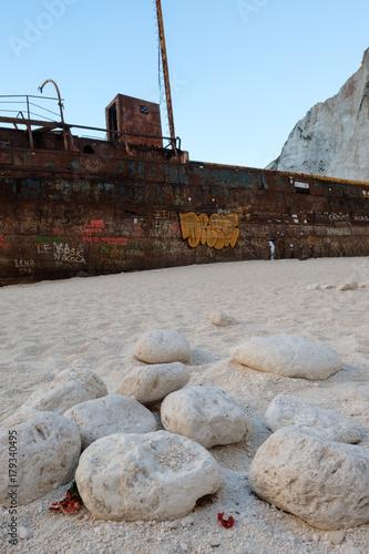 Aluminium Schipbreuk Shipwreck at Navagio Beach - Zakynthos, Greece