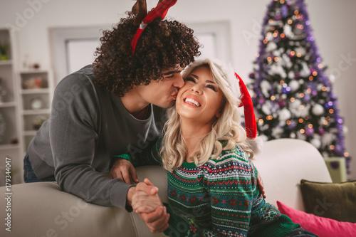 Plakat Christmas Kiss
