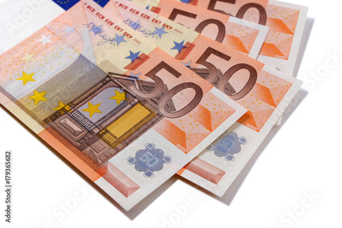 Poster Euro 50 currency notes