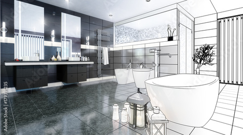 Luxurious Bathroom (scetch)