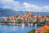 View of the Korcula town, Korcula island, Dalmatia, Croatia - 179394051