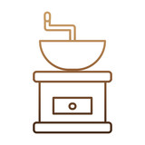 coffee grinder icon over white background vector illustration - 179402898