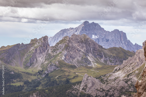 Foto op Canvas Lavendel Cernera and Civetta tops, awesome dolomitic mountains, Cortina d'Ampezzo, Dolomites, Veneto, Italy