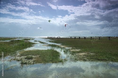 Fotobehang Noordzee Kite in St. Peter-Ording Germany