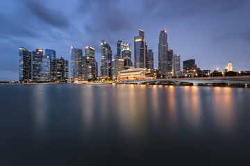 Skyline of Central Business District, Singapore