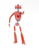 Robot Red Metallic  Wall Sticker