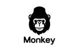Gorilla Head Logo Design Illustration