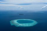 Maldives from air plan