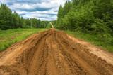 Broken forest dirt road. - 179459228