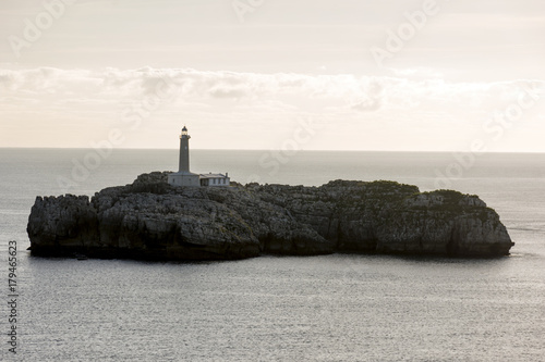 Fotobehang Vuurtoren Faro do mouro santander