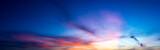 Panorama twilight nature sky and cirrus cloud - 179493280
