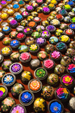 Handcrafted soap flowers at night market in Chiang Mai Thailand