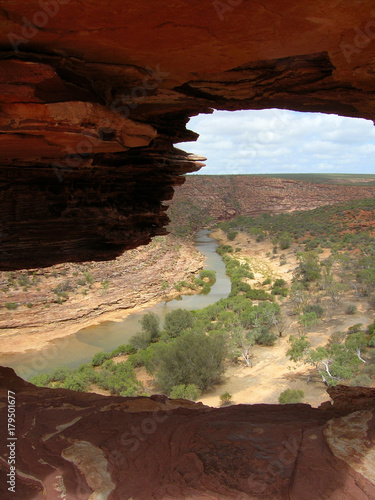 Fotobehang Bruin Nature's window, Kalbarri