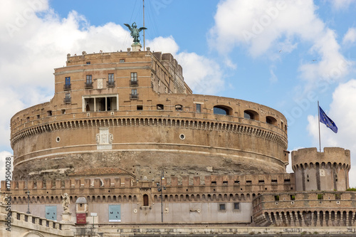 Mausoleum of Hadrian or Castel Sant'Angelo in Rome Italy Poster