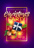 Christmas Party Poster Design Template Wall Sticker