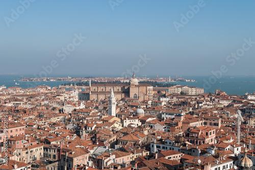 Foto op Plexiglas Venetie A view of Venice from St. Mark's Campanile (Bell Tower)