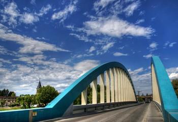 Pont de Loyettes sur le Rhône à Loyettes, Ain, France