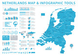 Netherlands Map - Info Graphic Vector Illustration - 179521416
