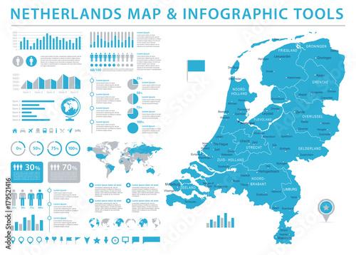 Netherlands Map - Info Graphic Vector Illustration